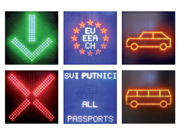 Color Outdoor LED Traffic Sign Board with a Control for Changing of the Signs